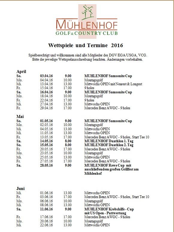 Wettspielkalender 2016